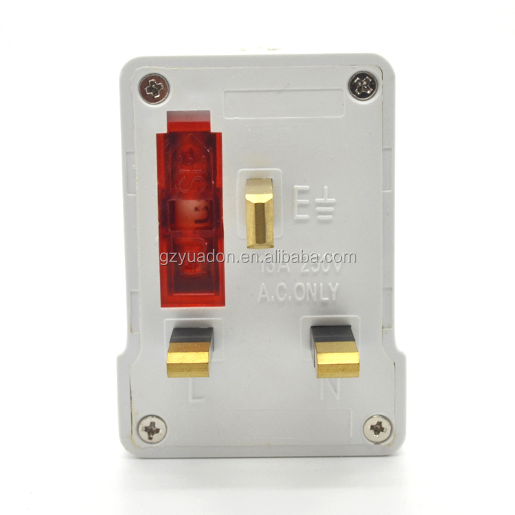 wholesale multi socket plug fused power plug adapter south africa / universal to UK adapter plug