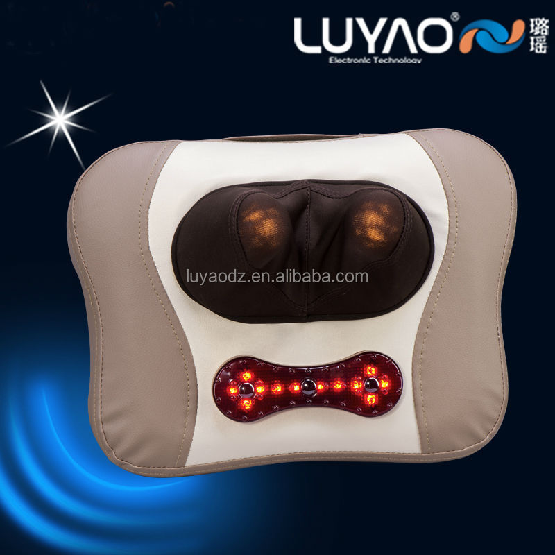 Electric vibrating neck shoulder massage heating pad LY-898