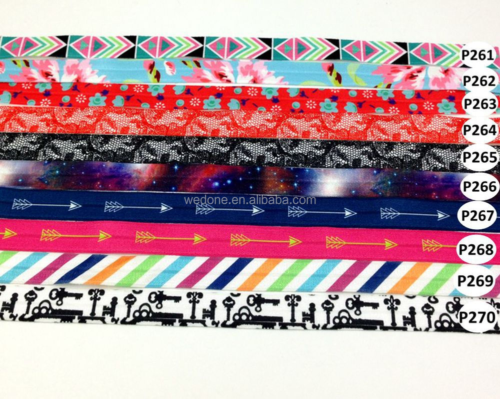 Custom Print Hair ties No Creases No Damage Hair Ties women hair accessories