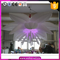 Hot sale hanging flower inflatable with led light for event decoration