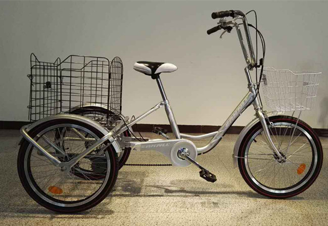 SH-T045 High Quality Adult Tricycle with Front and Rear Basket