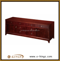 classic hotel bedroom furniture set/ classic solid teak wood cabinet/ hotel solid wood tv cabinet