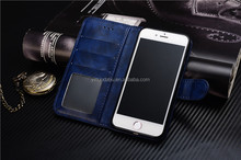 Genuine leather flip purse case cover mobile phone cover for iphone 6, wallet case for iphone 6s with stand