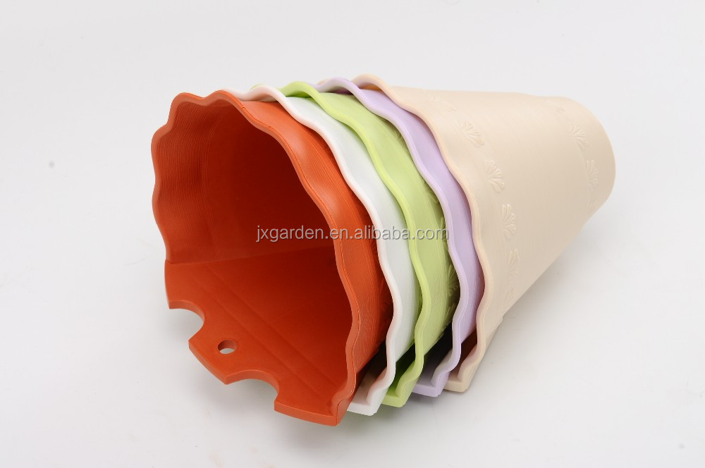 decorative garden wall flower pot and wall hanging plastic flower pots