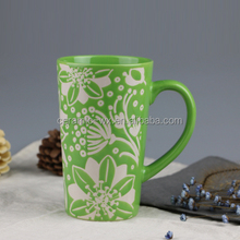 Liling manufactory stoneware green lipton and starbucks coffee mug