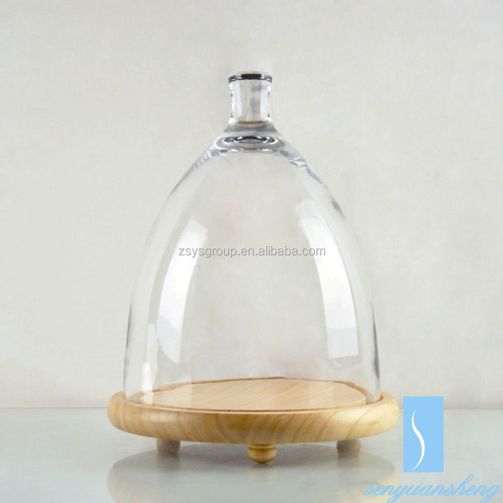 Clear Round Glass cake food dome for cooking