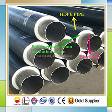 plastic rubber insulation coated hot water pipe with hdpe pipe jacket