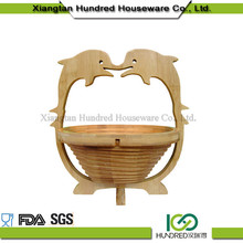 new arrive good quality natural fish shape bamboo baskets