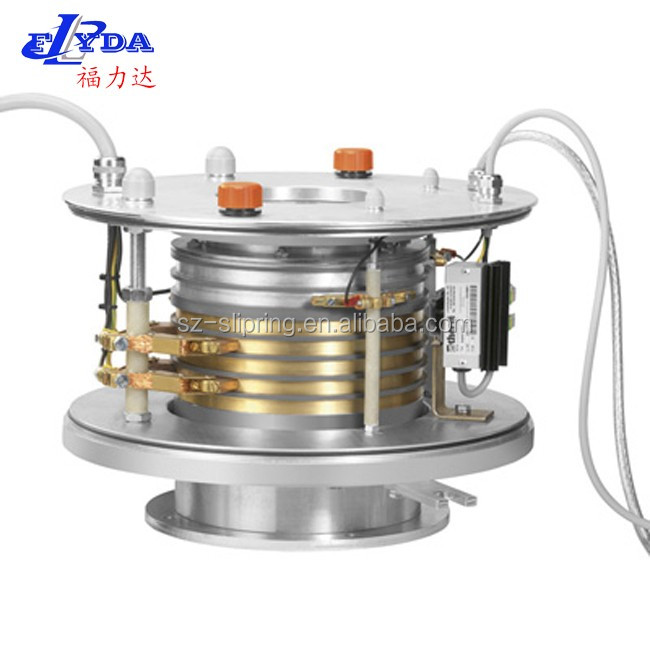 Max 300A Per Circiut , Carbon Conduction High Current Slip Ring , slip ring assemblies