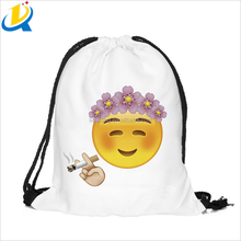New arrival rope bag printing cartoon emoji fashion outdoor backpack