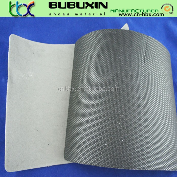 shoes material nylon cambrelle fabric laminated with eva
