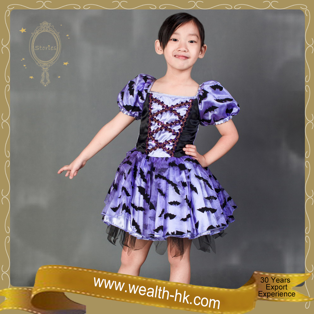 Ruffle Bat Witch Dress Halloween Witch Costume