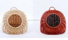 handmade eco-friendly portable pets wicker kennel /cat house outdoor indoor clean easy maintenance