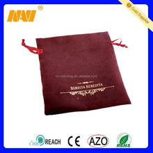 2015 high quality new design custom suede jewelry pouch