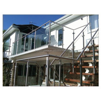 China laminated glass handrail for exterior stairs chrome handrails for stairs