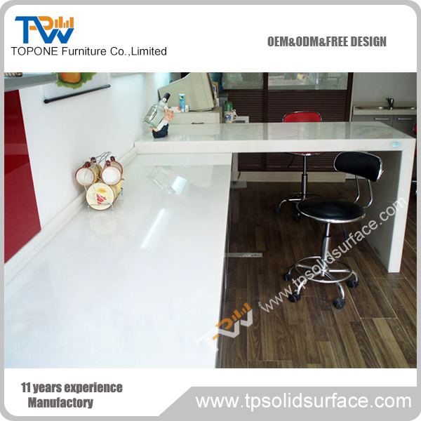 Low price of latest office table designs reception granite desk for hospital