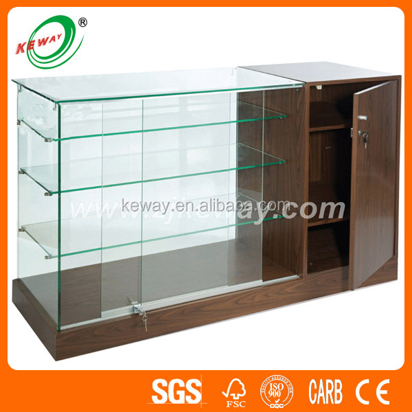 Full Vision Tempered Glass Store Mobile Phone Showcase
