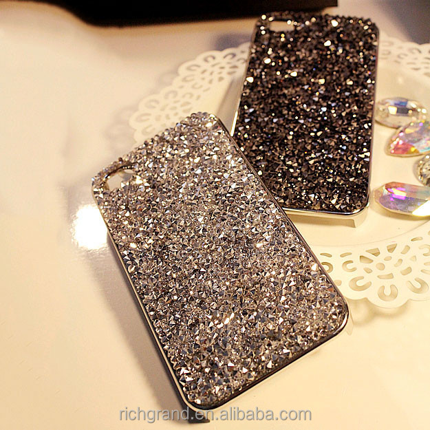 Luxury Bling Bling Crystal Diamond Back Protective Cover for iphone Samsung Various Models Rhinestone Cases