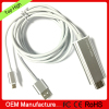 2m length MHL to hd mi for iphone 5 with usb charger 2 in 1 hd mi cable