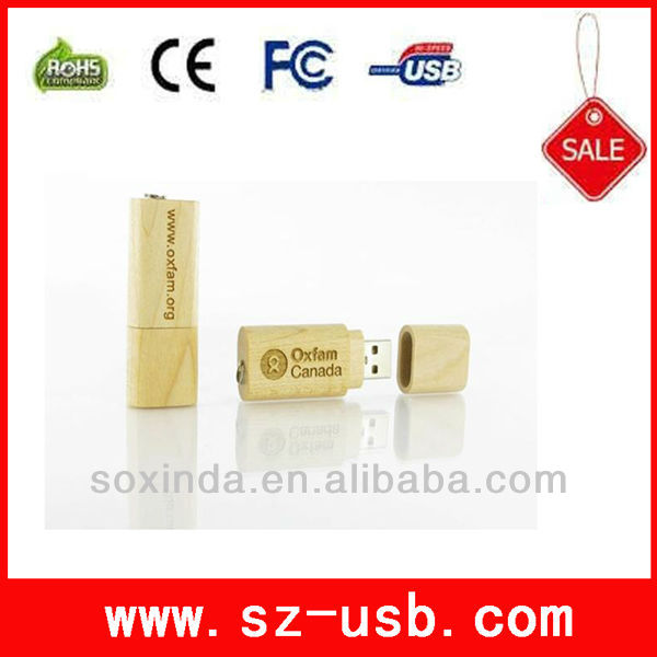 hot selling wooden ubs flash corporate gifts with customized logo