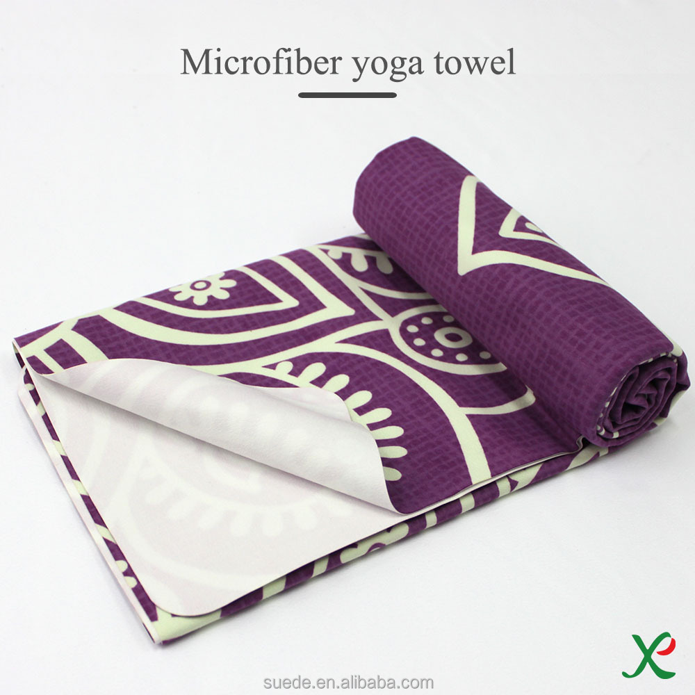 2017 microfibre yoga towel thick, microfiber towel sports, printed microfiber towels