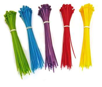 Hampool High Quality 2.5*100MM Wholesale Factory Color Cable Ties Size