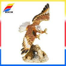 Golden Plated Eagle Statue