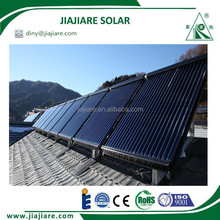 High efficiency evacuated heat pipe solar collector for pool heating