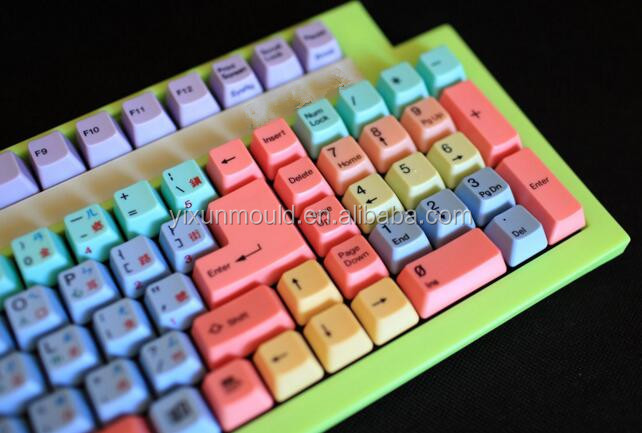 OEM plastic customized keyboard keypad mold and products for computer