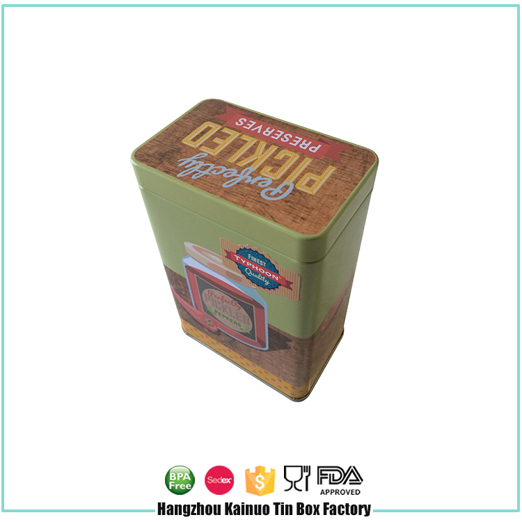 2017 Top Gift Box Tea Storage Metal Tins Colored Tin Containers