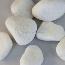 snowy white natural pebble stones, pure white pebbles for decoration