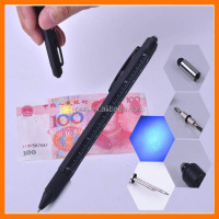patent 8 in 1 stylus pen with purple light,ballpen,ruler,invisible refill,ruler and 2 screw driver