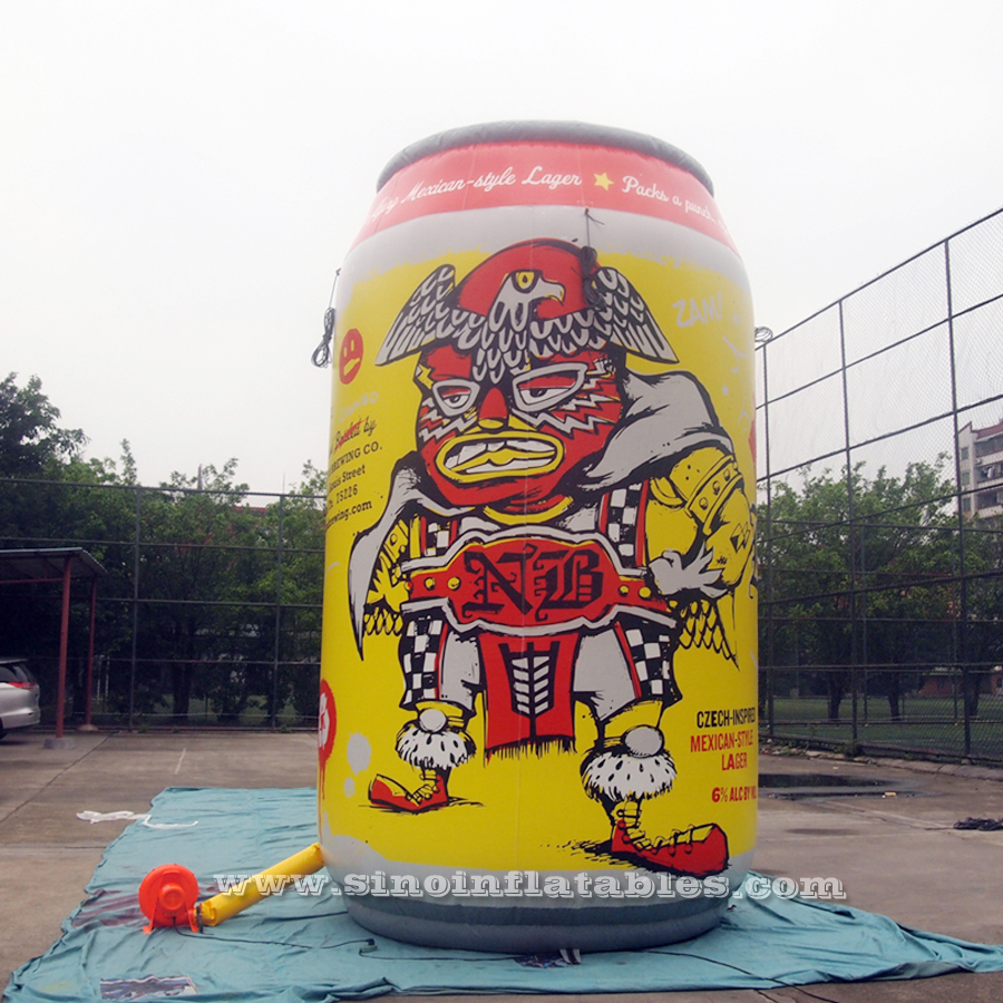 5m high Mexican style Lager NB giant inflatable beer can with full digital printing for outdoor advertising
