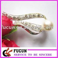 2015 new style fashion pearl brooches design,elegant and new desgin rhinestone brooch,hot sale decorative rhinestone brooch