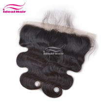 Easy to dye middle part natural hair remy lace front closure with baby hair, raw pre plucked lace frontal 13x4