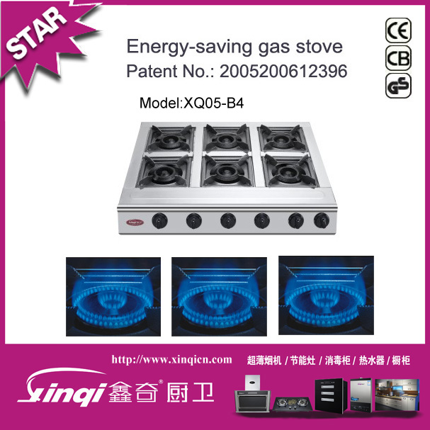 6 burner gas cooker / table top gas burner stove