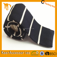 New Design Striped Knitted Necktie to match men's formal shirt