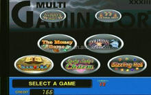 multi game gaminator games / gambling slot board / gaminator 5 in 1