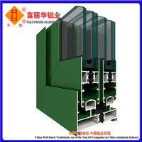 Beautiful Color Anodized Aluminum Jalousie Window Frames for Building Decoration