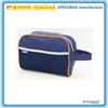 OEM hanging toiletry bag protable blue polyester cosmetic bag