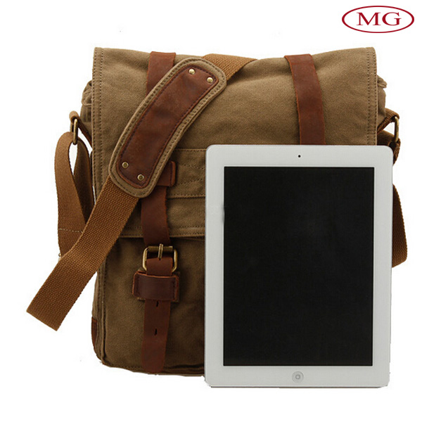 small moq wholesale popular canvas shoulder bag for ipad pro