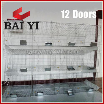 Durable 24 Cell Rabbit Farming Cage