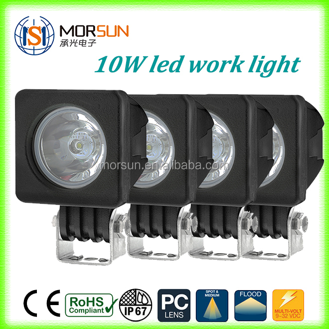 wholesale 4x4 accessories square mini 2 inch 10w 9-32V led work light for 4x4 offroad