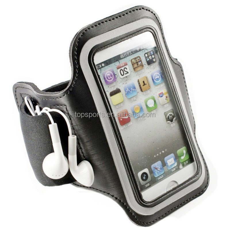 Neoprene Double Pockets Mobile Pouch Arm Bag For sporting, bicycling, running or climbing