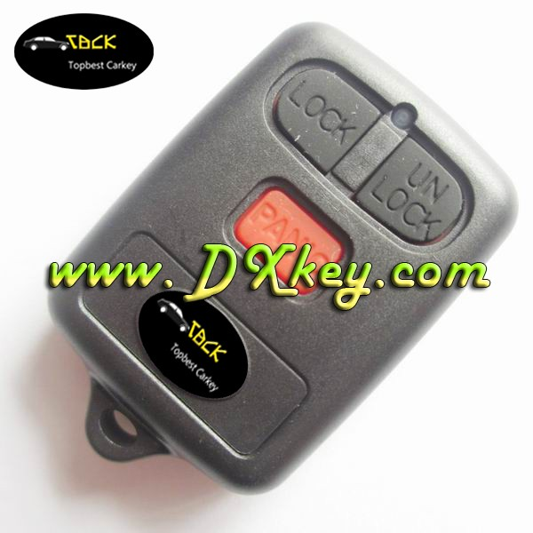 Best price 3 buttons remote case with logo for toyota vios remote key