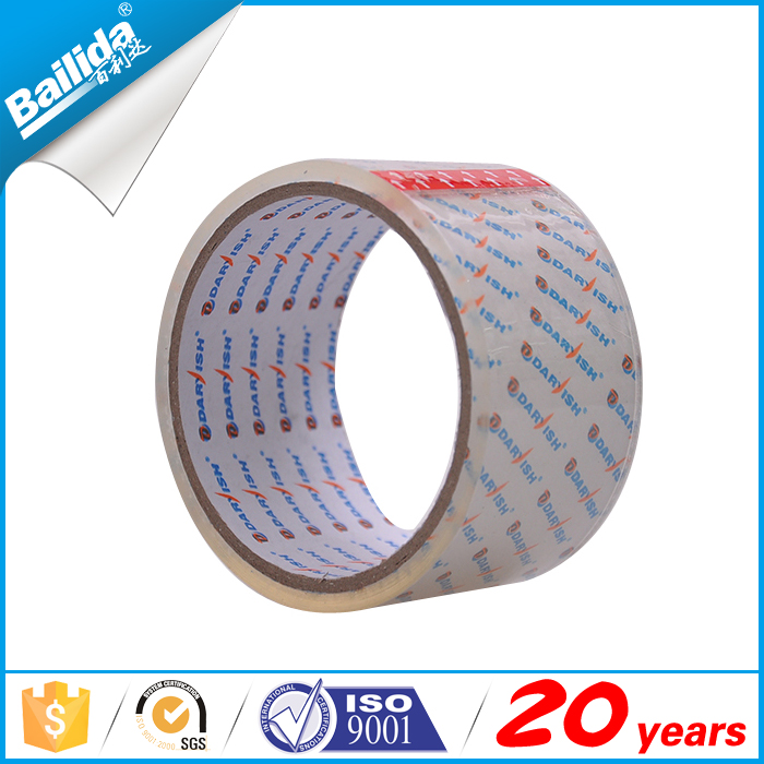 Strong adhesive no bubble super transparent clear tape for carton packing