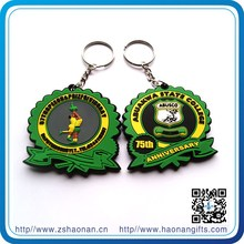 Own branding PVC keychains football as souvenir