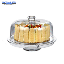 Food Grade Crystal Clear Deluxe Acrylic 4 in 1 Cake Stand
