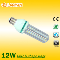 2015 zhongshan New Design U Shape led Corn Lamp 7w 9w 12 w LED Corn Light Bulb for export import in gujarat