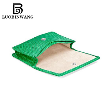 Guangzhou luobinwang leather co ltd green lizard compact sized leather business card case women business and credit card case holdermoq 50 piecepiecesus 2 4 piece reheart Gallery